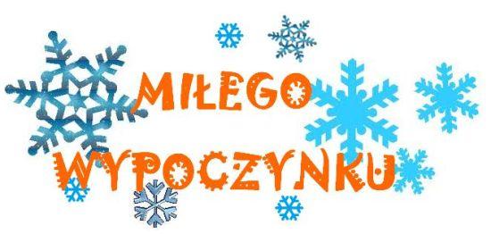 Znalezione obrazy dla zapytania ferie zimowe w szkole